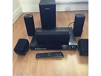 samsung home cinema system HT-Z310 DVD 5.1 Ch All in working order incl stands for the 2 smaller sp