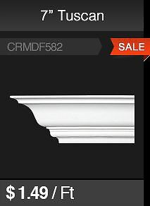 "7"" Tuscan MDF Crown Mouldings for Sale"