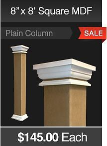 MDF SQUARE COLUMN WRAPS