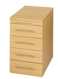 NEW, 4 drawers pedestal cabinet-- complete in box -