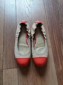 Geox light brown & orange shoes size 5.5 (38.5)