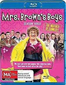 MRS BROWNS BOYS SEASON 3 BRAND NEW AND SEALED- BLU RAY- REGION B