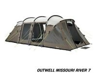 NEVER USED Outwell Missouri River 7 polycotton tent & extras £550 OVNO