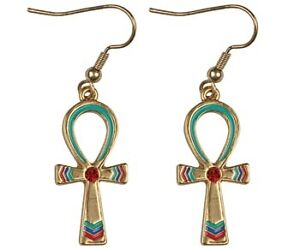 EGYPTIAN-ANKH-CROSS-EARRINGS-ANCIENT-EGYPT-JEWELRY-SET-OF-2-NEW