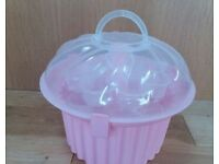 Cupcake Storage Box Carrier, 3 Tiers 24 Cupcakes pink