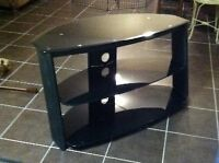 *GREAT DEAL!* Black, Glass, 3 Tier TV Stand