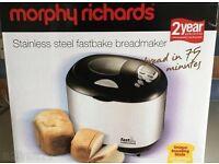 Morphy Richards Stainless Steel Fast Bake Bread Maker