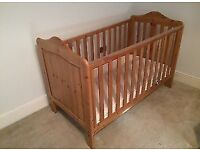 Mothercare Chester Cot Bed with Drop Sides and Mattress