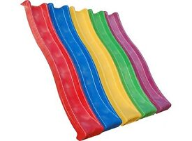 Red CHILDRENS GARDEN PLASTIC SLIDE FOR KIDS CLIMBING FRAME PLAYHOUSE with water hosepipe connection