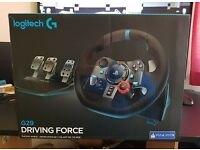 Logitech G29 Driving Force Racing Wheel and Pedals (PS4/PS3 & PC)