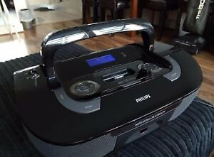 Philips AZ1330D Portable Radio CD Player iPhone 4 ipod dock