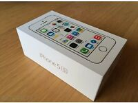 IPhone 5s in silver, boxed, good condition