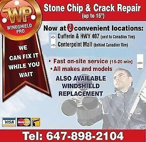 crack repairs on your windshield.  upto 15-20""