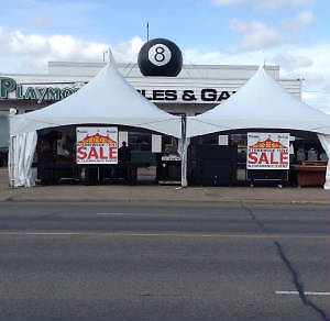 Pool tables and games Overstocked Tent & Clearance Event