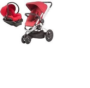 Quinny3 Stroller +Maxi Cosi car seat with base+adapters.