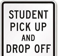 Pick up and drop off from school