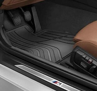 BMW Genuine All Weather Rubber Front Car Floor Mats Black F32F33 51472285311