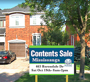 Mississauga Executive Content Sale- Sat, Oct 19th 8-2pm!!