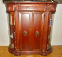 Bombay Company Majestic Marble & Glass Doors Console - Like New
