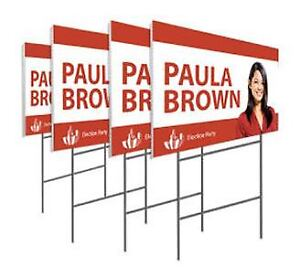 Coroplast Signs | Banners | Canvas | Posters Printing Services