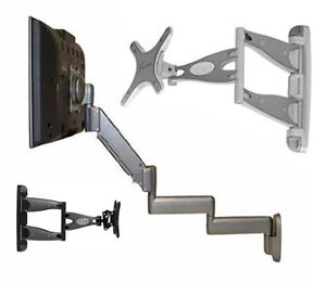 "LED LCD HD TV WALL-MOUNT 10"" TO 90"" W TILT FULL MOTION CEILING"