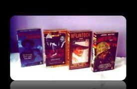CLASSIC JOHN WAYNE FILMS - (4) VHS TAPES - FOR SALE