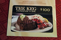 $100 Gift Card for The Keg