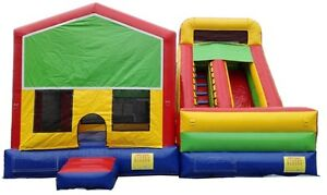 2 pcs.  Modular 15' bounce and 16' Slide