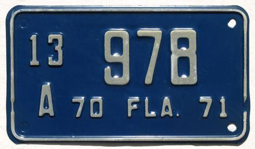 Florida Motorcycle License Plate Ebay