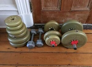 Folding weight bench and weights SOLD