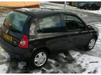 clio rush 1.2 8v 2005 black 3dr only 64000 miles new clutch and timing belt, excellent condition