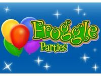 FROGGLE PARTIES / AS SEEN ON CBBC / £20 DISCOUNT