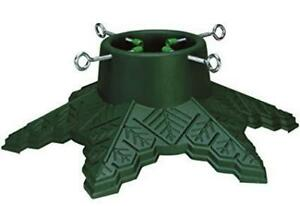 Snowflake Christmas Tree Stand  Green Plastic for    Trees 7'