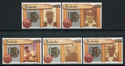 Barbados 1988 Kricket Cricket Spieler Sport 692-696 Postfrisch MNH (Cricket-spieler)
