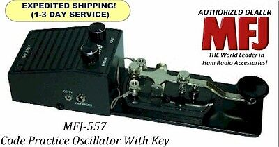 MFJ-557 Morse Code Practice Oscillator With Key. Speaker & Headphone Jack - NEW