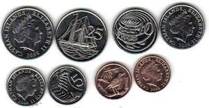 CAYMAN ISLANDS: 4-PIECE UNCIRCULATED COIN SET, 1 TO 25 CENTS