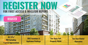 Register NOW for Waterloo Investment ~ 100% Turnkey ~
