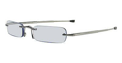 Calvin Klein CR1 Folding Reading Glasses with +1.50 Prescription (598 Gunmetal)