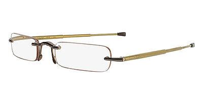 Calvin Klein CR1 Folding Reading Glasses with +1.50 Prescription (529 Tan)