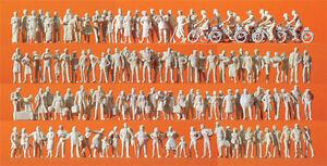 Preiser 16337 HO Reisende und Passanten  120 unbemalte Figuren weiß