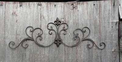 Metal Wall Scroll (Metal wall decor, Fleur de Lis, Decorative Home Decor, scroll design, Shabby, )