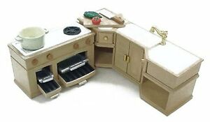 Calico Critters Deluxe Kitchen Furniture Set New Ebay