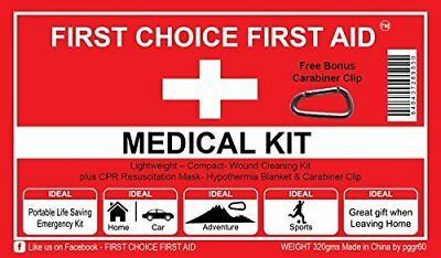 FIRST AID KIT SURVIVAL PERSONAL WEATHERPROOFED MEDICAL BAG Emergency - Best (Best Survival Medical Kit)