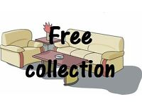 FREE COLLECTION OF UNWANTED FURNITURE ! sofa, brown black corner, suite chair, table,double bed