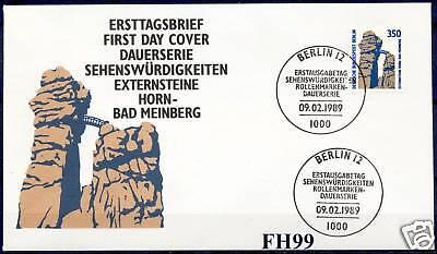 Berlin 1989: Externsteine Horn-Bad Meinberg! SWK-FDC der Nr. 835! 1A! 1607