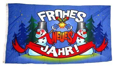 Fahne / Flagge Frohes Neues Jahr Silvester NEU 90 x 150 cm