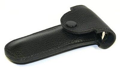 nts-solingen Elegante estuche de cuero Parker para Maquinilla Afeitar Negro Piel