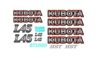 L45 Kubota Loader Backhoe Tractor Vinyl Decals Sticker Set Hst L 45 Tl 1000 Bt
