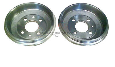 FIAT SEICENTO  CINQUECENTO ALL MODELS  REAR 2 BRAKE DRUMS BRAND NEW SET