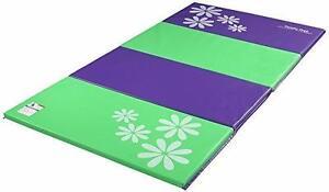 New, Tumbl Trak Tumbling Panel Mat - Purple and Lime Green w/ Flowers